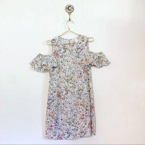H&M Floral Printed Flutter-Sleeve Dress